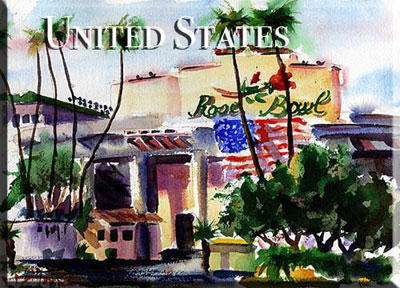United States Rose Bowl Jesus En Plein Air